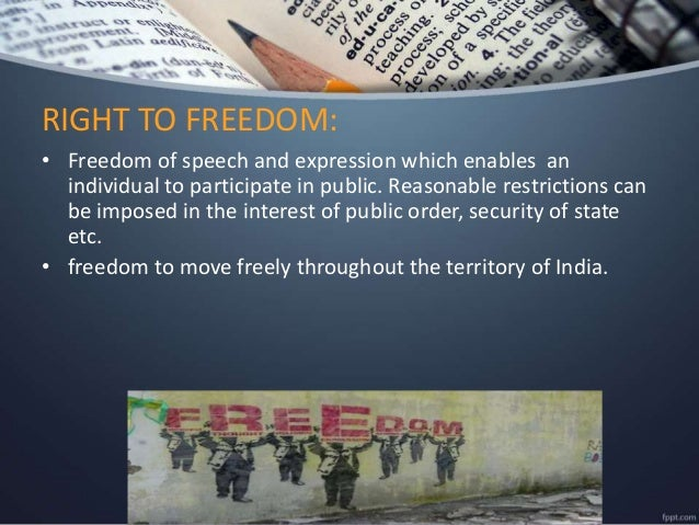 the right to move freely