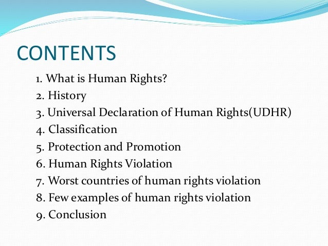 Human Rights And Third World Countries