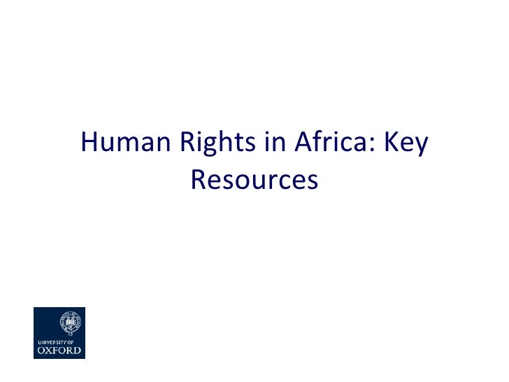 Human Rights in Africa: Key Resources