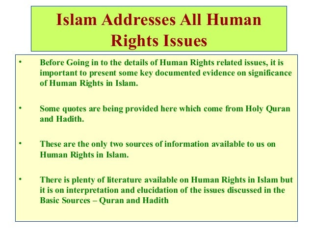 essay on human rights in islam This essay contends that contemporary headscarf and related cases in the  european court of human rights draw not solely upon the.