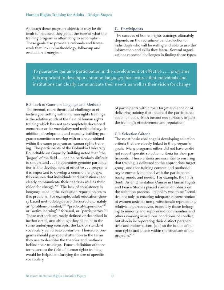Research in Human Rights Education Papers 10; 11.