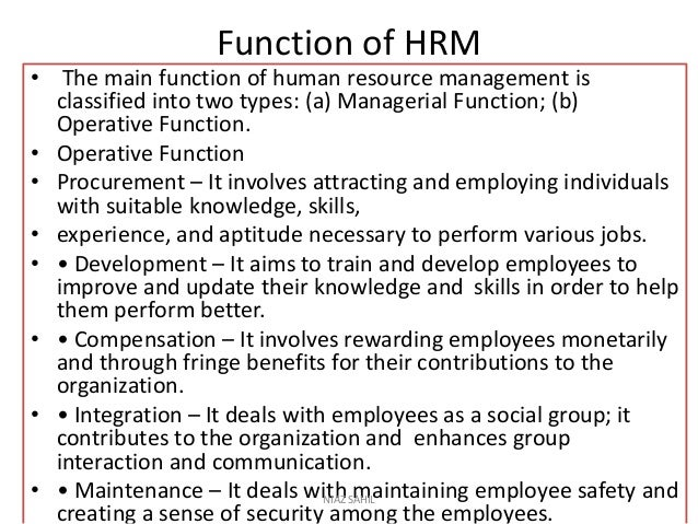 Human Resource Management Complete Note