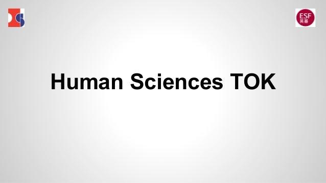 Human Sciences TOK