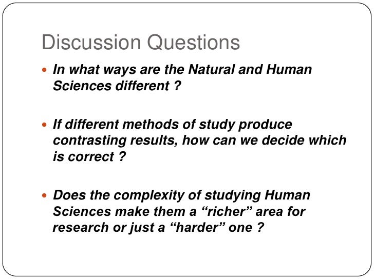 Real Life Situation Tok Natural Sciences