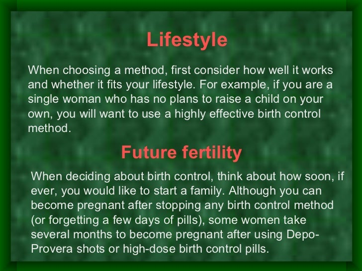 Do health factors limitsome birth controloptions?-Some birth control methods may notbe right for you if you have certainhe...