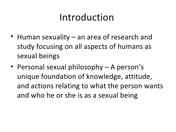 humans are sexual beings