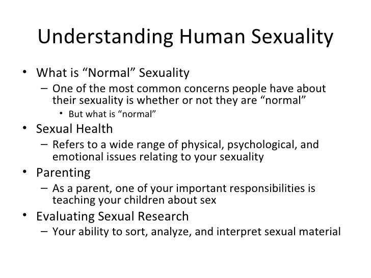 Concept Of Human Sexuality