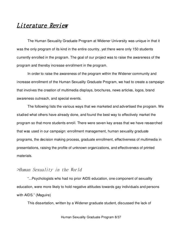 Graduate program human sexuality