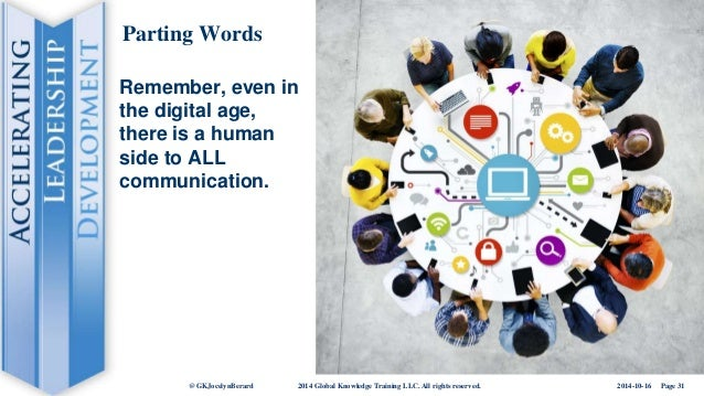 The Human Side Of Communication In The Digital Age