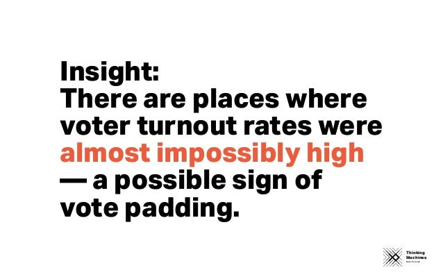 Thinking Machines Data Science Insight: There are places where voter turnout rates were almost impossibly high — a possib...