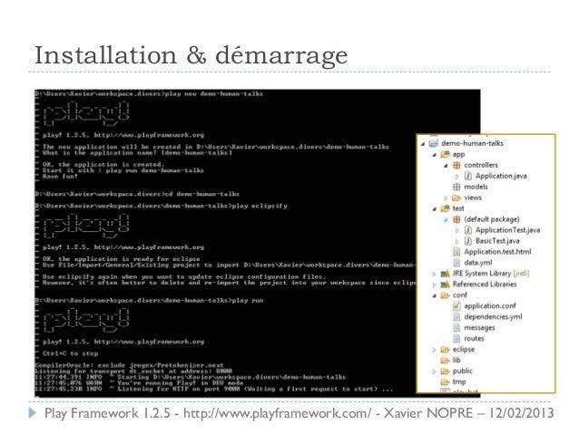 Installation & démarragePlay Framework 1.2.5 - http://www.playframework.com/ - Xavier NOPRE – 12/02/2013