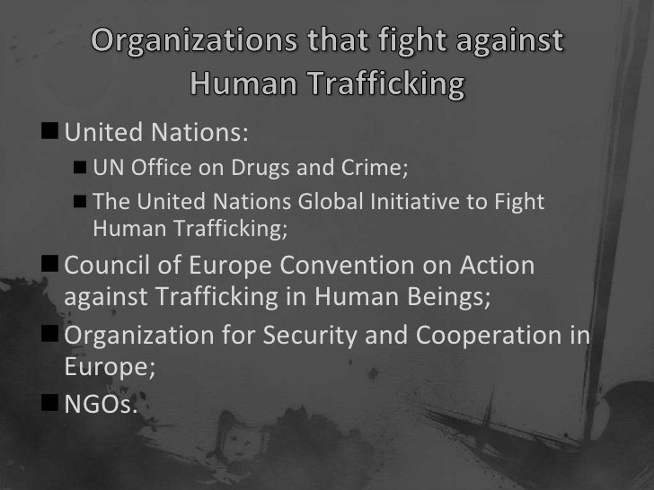 the fight against human trafficking