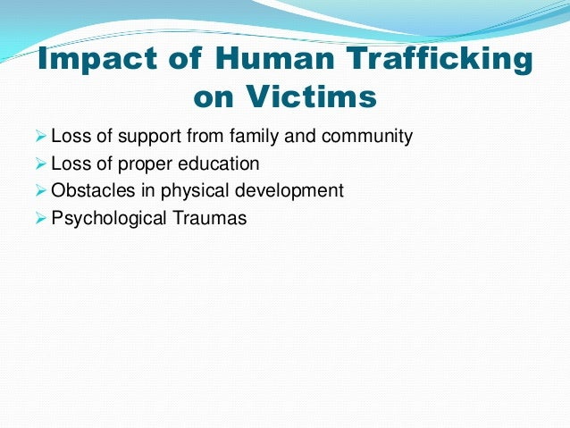 Effects of sex trafficking on economy