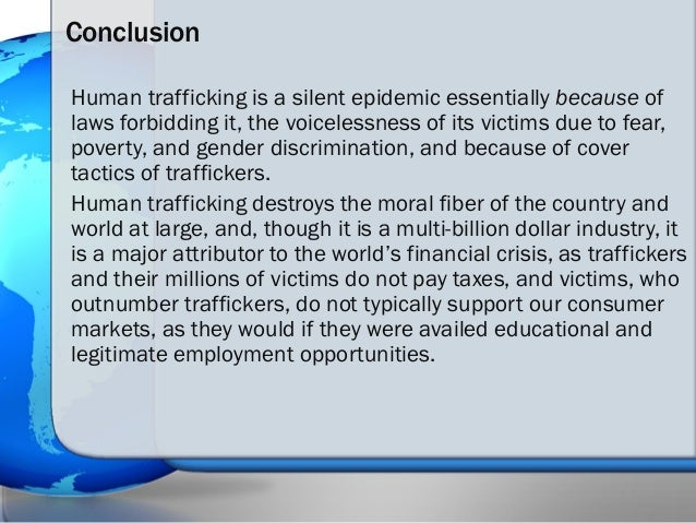 thesis on human trafficking Thesis statements  the thesis statement is the  most important part of your paper it states the purpose and main idea of your  human trafficking in the united.