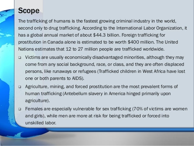 Human trafficking the issue versus propaganda its ultimate solution