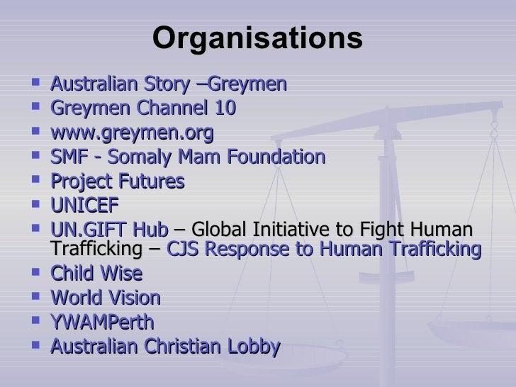 Organisations <ul><li>Australian Story – Greymen </li></ul><ul><li>Greymen  Channel 10 </li></ul><ul><li>www.greymen.org <...