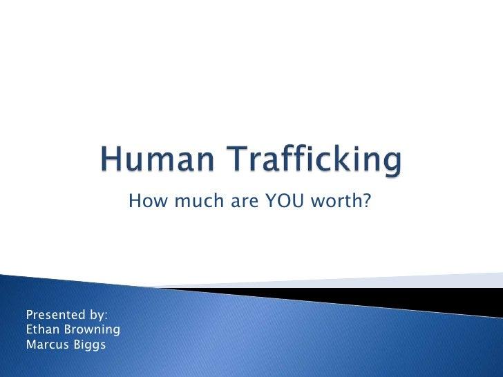 Child trafficking term paper