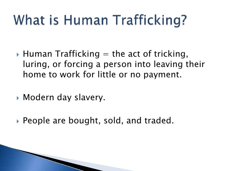 Outline for research paper on human trafficking