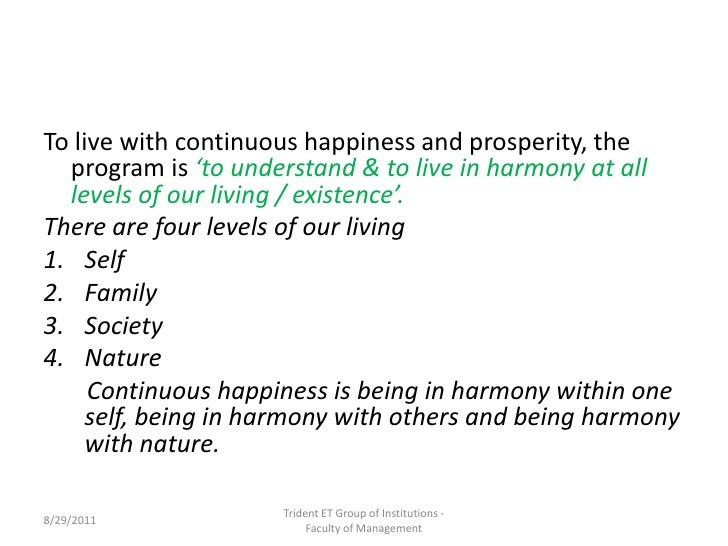 Live in harmony with nature essay