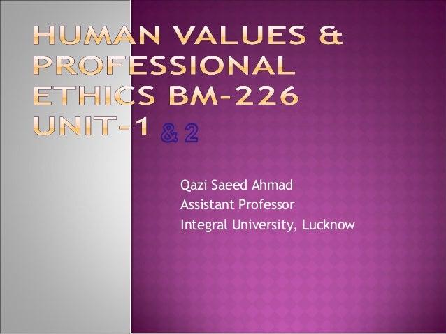 Qazi Saeed Ahmad Assistant Professor Integral University, Lucknow