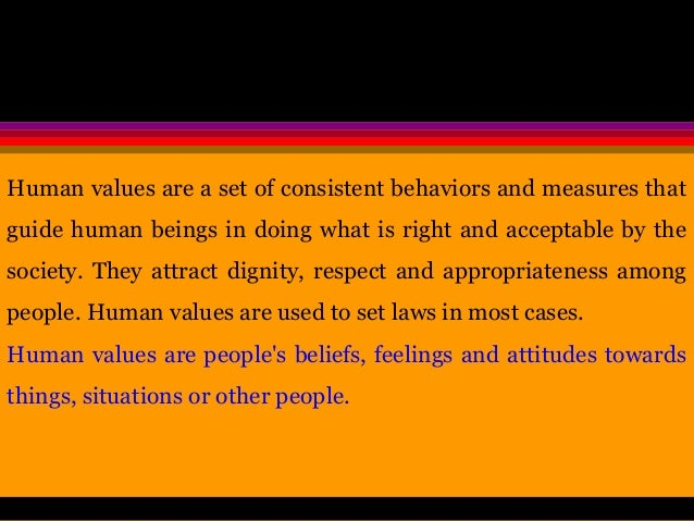 Essay on human values are timeless and eternal