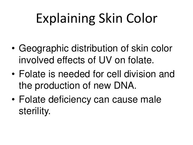 Skin Color Evidence Against Natural Selection