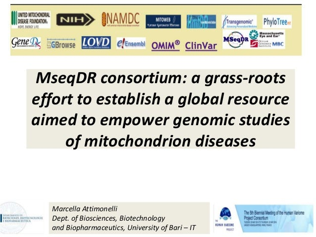 MseqDR consortium: a grass-roots effort to establish a global resource aimed to empower genomic studies of mitochondrion d...