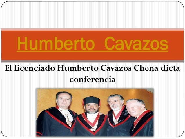 El licenciado Humberto Cavazos Chena dicta conferencia Humberto Cavazos