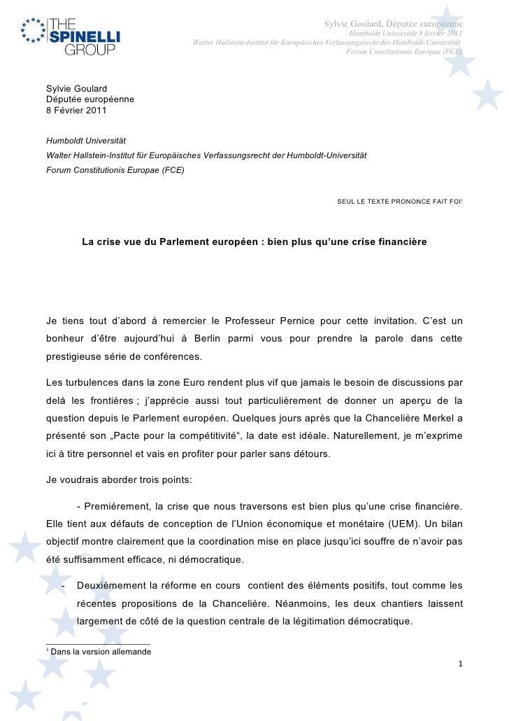 Sylvie Goulard, Députée européenne                                                                                        ...