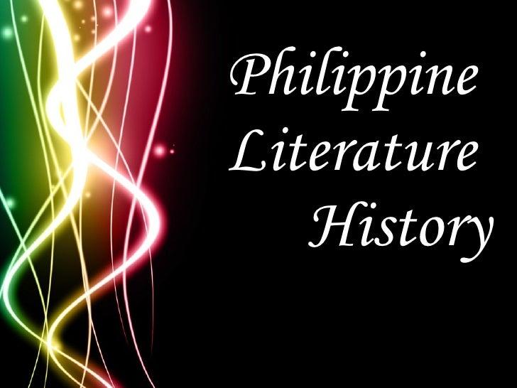Philippine  Literature  History