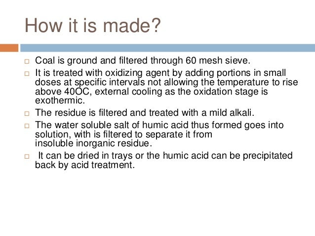 how to study humic acid