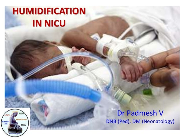 HUMIDIFICATION IN NICU Dr Padmesh V DNB (Ped), DM (Neonatology)