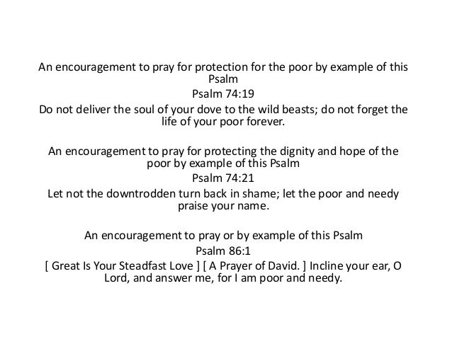 Psalms on Humility, Pride, Rich, Poor, Low and High
