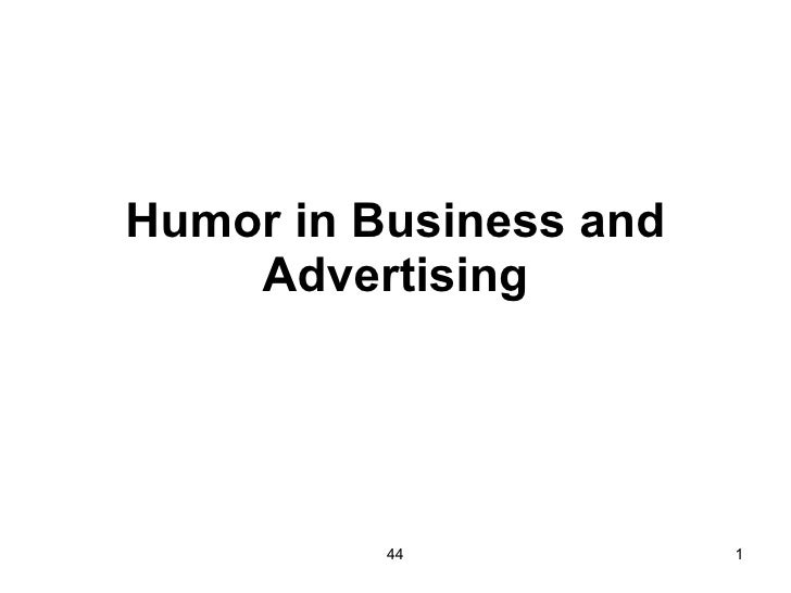 Humor in Business and Advertising 44
