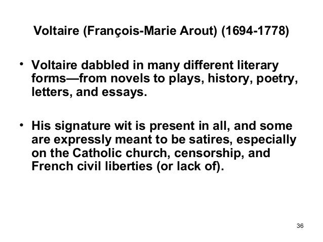 pope swift and voltaire essay Fiction, literary translations, and essays on the rights of women to education   writers such as swift, pope, johnson, and voltaire could comment upon the.