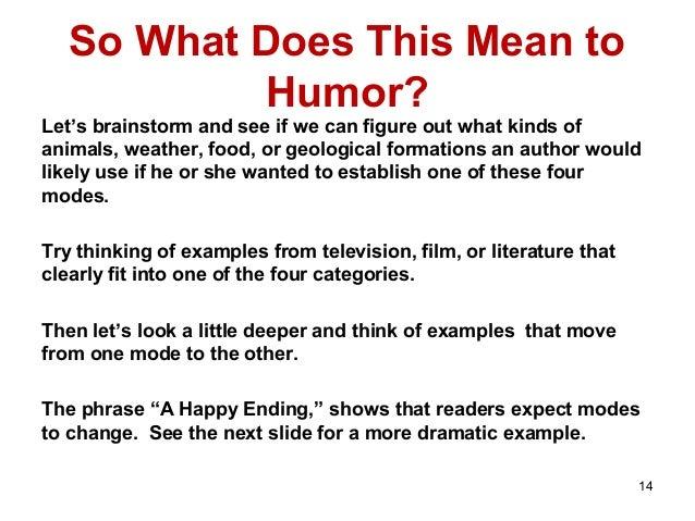 Humorous Literary Genres
