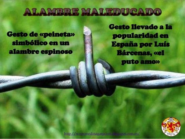 http://wwwmedinagarpcom.blogspot.com.es/ Gesto de «peineta» simbólico en un alambre espinoso Gesto llevado a la popularida...
