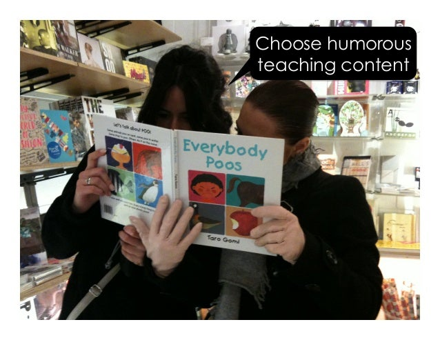 Choose humorous teaching content