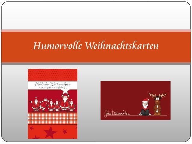Humorvolle Weihnachtskarten