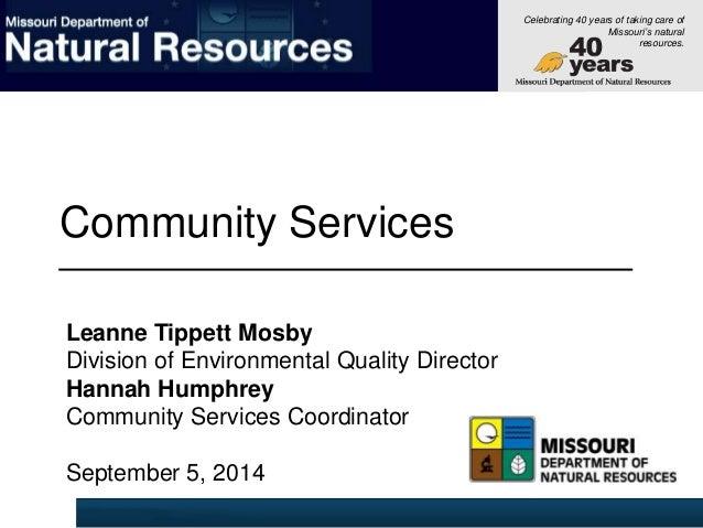 Missouri Department Of Natural Resources Director