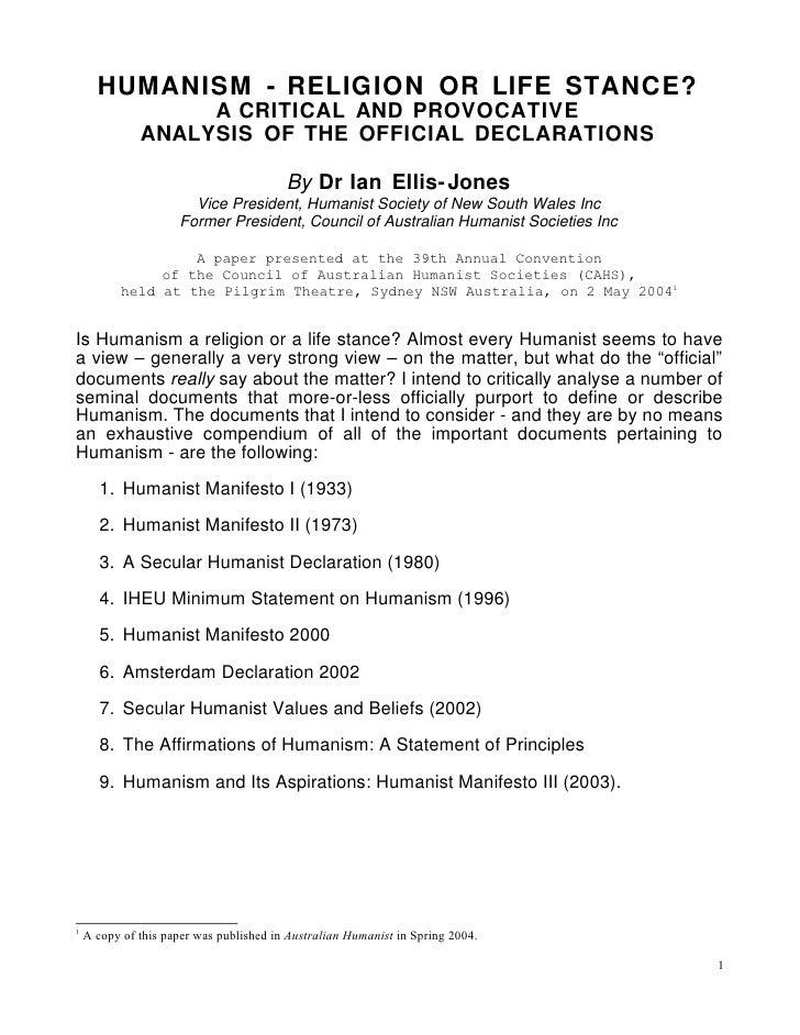 SECULAR HUMANIST DECLARATION EBOOK