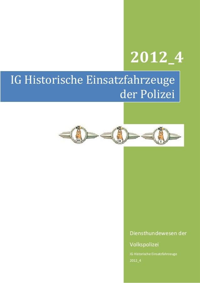 2012_4IG Historische Einsatzfahrzeuge                     der Polizei                       Diensthundewesen der          ...