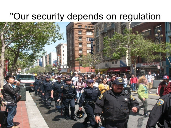 """""""Our security depends on regulation"""