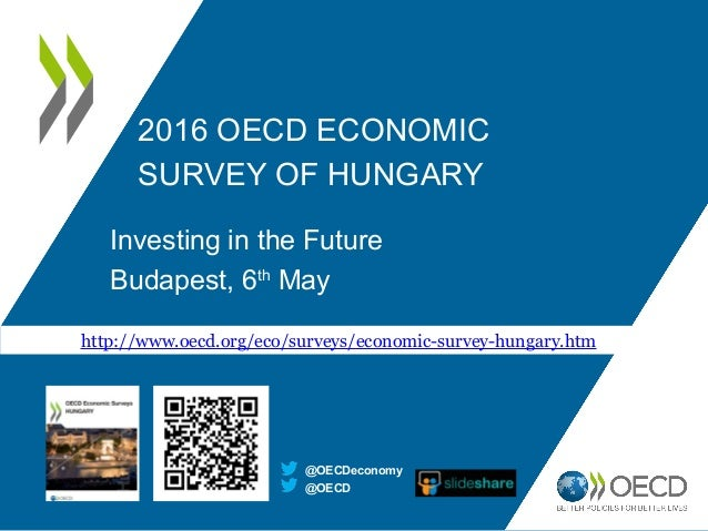 2016 OECD ECONOMIC SURVEY OF HUNGARY Investing in the Future Budapest, 6th May @OECD @OECDeconomy http://www.oecd.org/eco/...