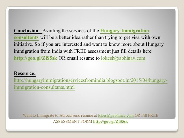 hungary immigration consultants from india