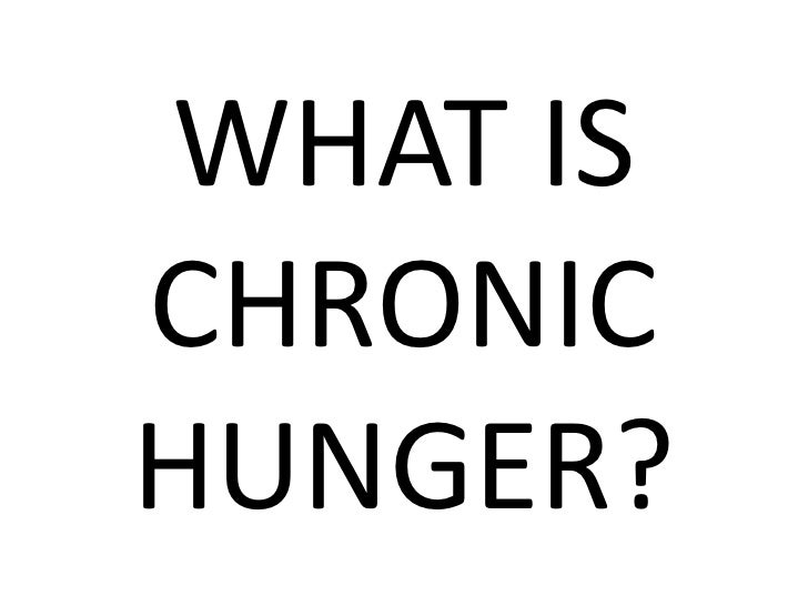 WHAT IS CHRONIC HUNGER?<br />