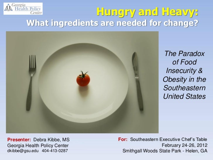 Hungry and Heavy:        What ingredients are needed for change?                                                          ...