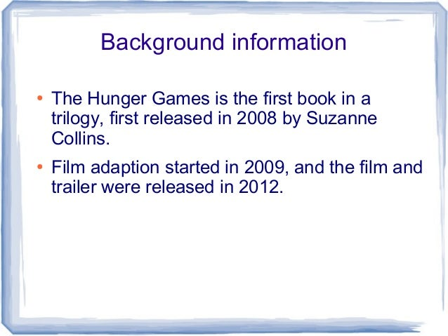 the hunger games 2008 analysis One of the most influential, albeit controversial, book series of 2008 is written by suzanne collins, an author who previously had been a children's television writer collins, in her new series the hunger games, delves into the dark, questionable subject of child versus child combat the.