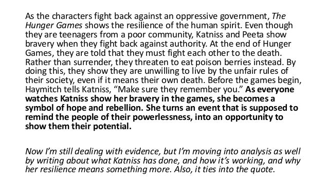 hunger games 1 body paragraph The hunger games was pretty fantastic, hence the four stars (though i would have given 3 1/2 if the choice was available) i ate it up, shouting into other rooms and offices that i was going to be shoving the book i fantastically written.