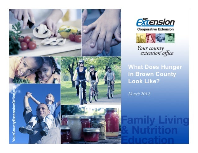 What Does Hungerin Brown CountyLook Like?March 2012